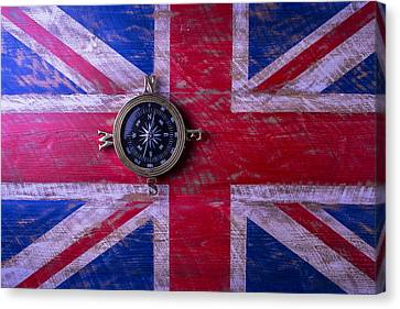 Union Jack And Compass Canvas Print by Garry Gay