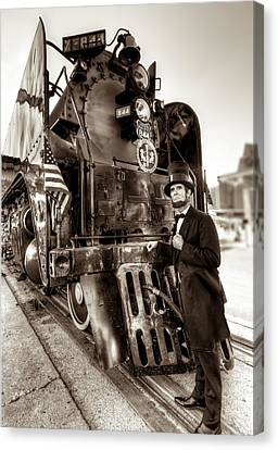 Canvas Print featuring the photograph Union Pacific 844 by Tim Stanley