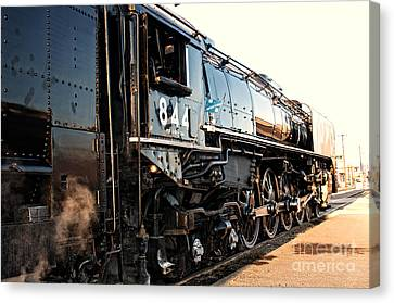 Canvas Print featuring the photograph Union Pacific Engine #844 by Vinnie Oakes
