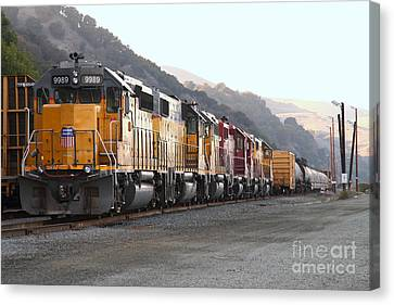 Union Pacific Locomotive Trains . 7d10563 Canvas Print by Wingsdomain Art and Photography