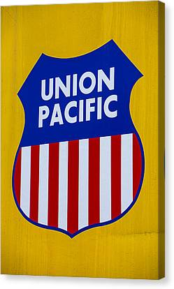 Union Pacific Raolroad Sign Canvas Print by Garry Gay