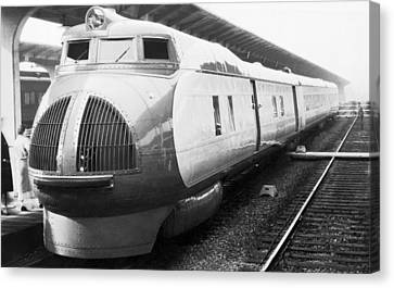 Union Pacific's New Train Canvas Print by Underwood Archives