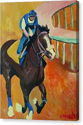 Canvas Print featuring the painting Union Rags Kentucky Derby  by Darlene Berger