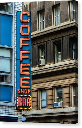 Union Square Coffee Shop Sign Canvas Print by Jon Woodhams