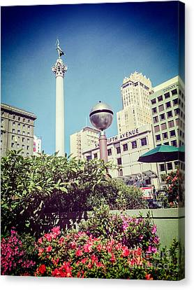 Union Square San Francisco Canvas Print by Colin and Linda McKie