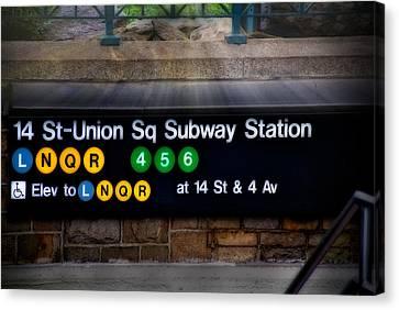 Subway Canvas Print - Union Square Subway Station by Susan Candelario