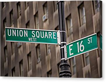 Union Square West I Canvas Print by Susan Candelario