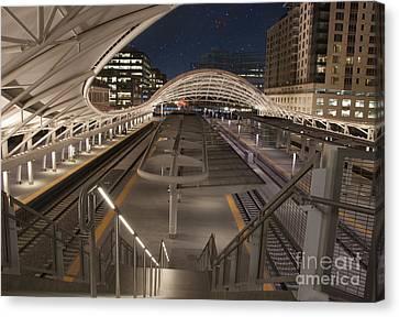 Union Station At Night  Canvas Print by Juli Scalzi
