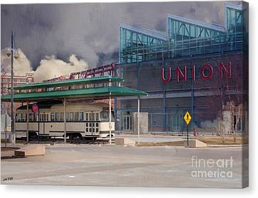 Union Station - Backside - Oil Painting Canvas Print by Liane Wright