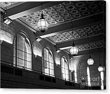 Union Station Balcony - New Haven Canvas Print by James Aiken