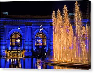 Union Station Celebrates The Royals Canvas Print