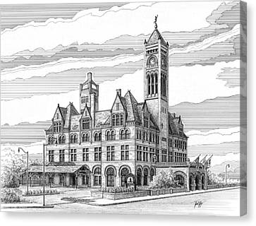 Historic Site Canvas Print - Union Station In Nashville Tn by Janet King