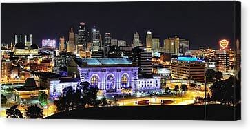 Union Station In Purple Canvas Print
