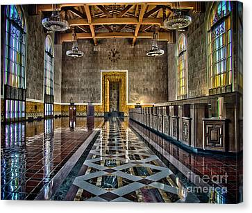 Union Station Interior- Los Angeles Canvas Print by David Doucot