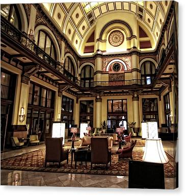 Union Station Interior Nashville Tennessee Canvas Print by Dan Sproul
