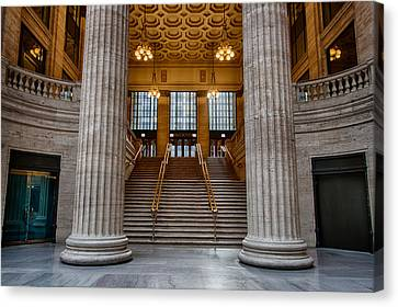 Union Station Stairs Canvas Print by Mike Burgquist