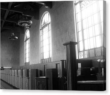 Union Station Ticketing Room Canvas Print by Karyn Robinson