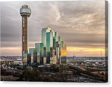 Union Tower Sunset Canvas Print