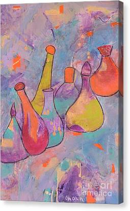 Unique Bottles Canvas Print by Lyn Olsen