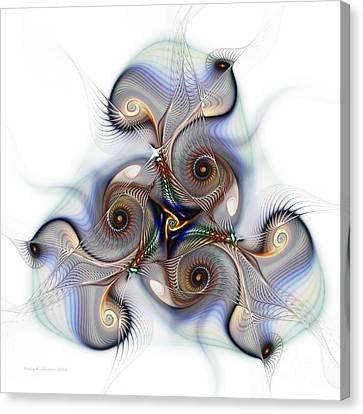 Unison Fractal Art Canvas Print by Karin Kuhlmann