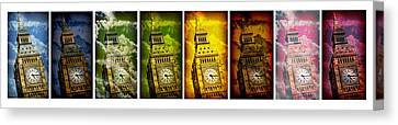 United Colors Of Big Ben Canvas Print by Stephen Stookey