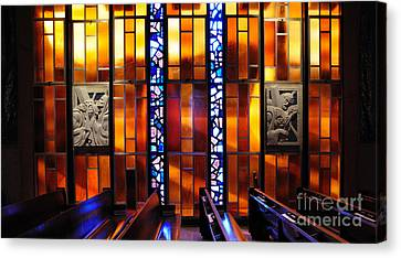 United States Air Force Academy Cadet Chapel Detail Canvas Print by Vivian Christopher