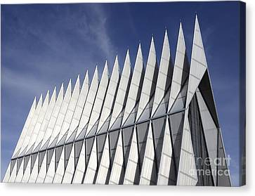 United States Airforce Academy Chapel Colorado Canvas Print by Bob Christopher