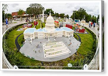 United States Capital Building At Legoland Canvas Print by Edward Fielding