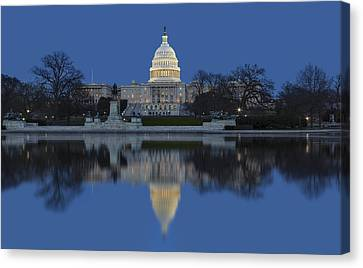United States Capitol Building Canvas Print by Susan Candelario
