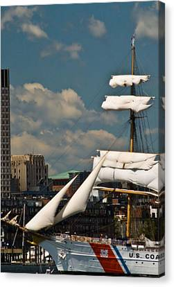 Canvas Print featuring the photograph United States Coast Guard Cutter by Caroline Stella