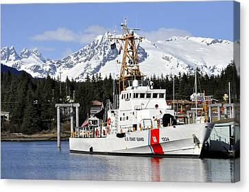 United States Coast Guard Cutter Liberty Canvas Print by Cathy Mahnke