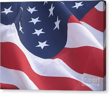 Canvas Print featuring the photograph United States Flag  by Chrisann Ellis
