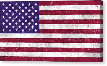 United States Flag Canvas Print by World Art Prints And Designs