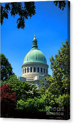 Md Canvas Print - United States Naval Academy Chapel by Olivier Le Queinec