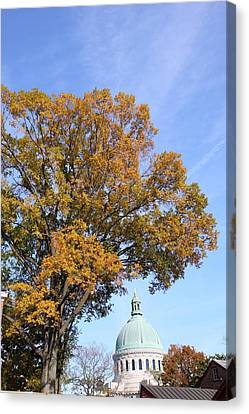 United States Naval Academy In Annapolis Md - 121255 Canvas Print by DC Photographer