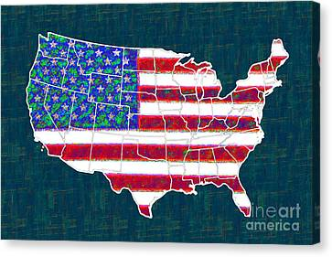 United States Of America - 20130122 Canvas Print by Wingsdomain Art and Photography