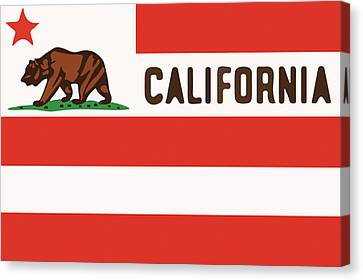 United States Of California Flag Canvas Print by Jera Sky