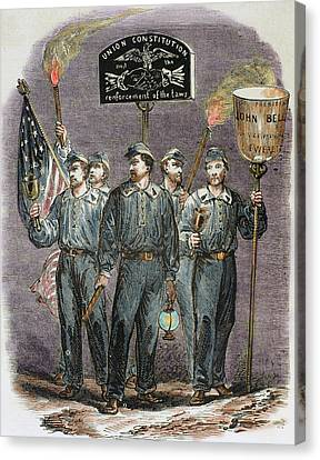 United States Party Supporters Of John Canvas Print by Prisma Archivo
