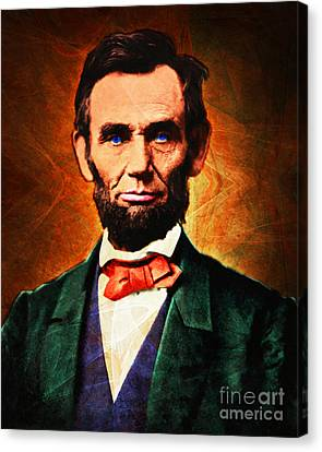 United States President Abraham Lincoln 20140914 Canvas Print by Wingsdomain Art and Photography