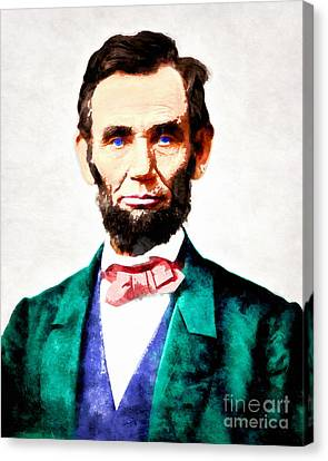 United States President Abraham Lincoln 20140914wc V2 Canvas Print by Wingsdomain Art and Photography