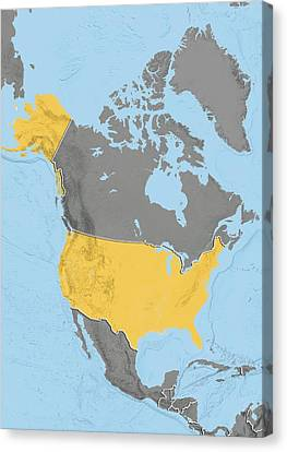 United States, Relief Map Canvas Print by Science Photo Library