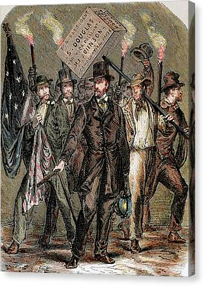 United States Supporters Of Stephen Canvas Print by Prisma Archivo
