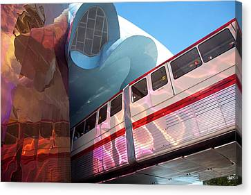 Monorail Canvas Print - United States, Washington, Seattle by John and Lisa Merrill