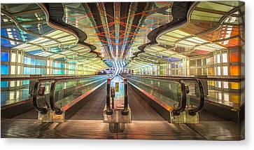 United Tunnel Of Colors Canvas Print by Noah Katz