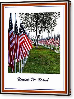 United We Stand Canvas Print by Ella Kaye Dickey