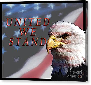 United We Stand Canvas Print by Lawrence Costales