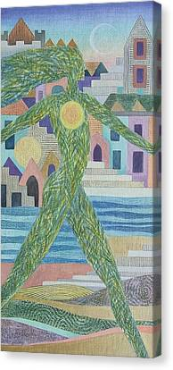 Uniting Suns Canvas Print by Jennifer Baird