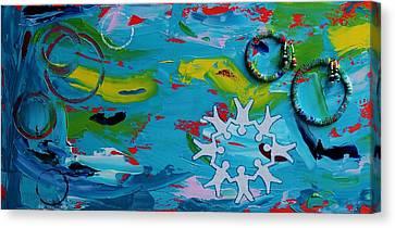 Seed Beads Canvas Print - Unity by Ann Laase Bailey