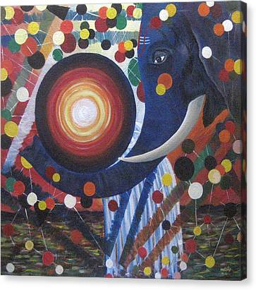 Universal Confusion Canvas Print by Usha Rai