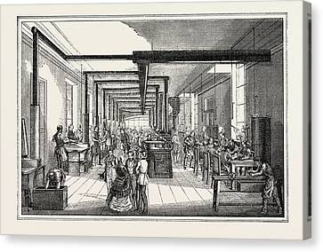 Universal Exposition Printing House Of The State In Vienna Canvas Print by French School